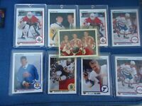 1990-91 UPPER DECK HOCKEY LOT ROOKIES AND STARS ED BELFOUR,JAROMIR JAGR AND MORE