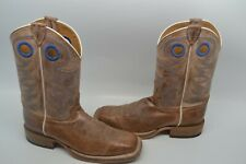Mens Justin Square Toe Bent Rail Chievo Leather Western Cowboy Boot 9 D BR744