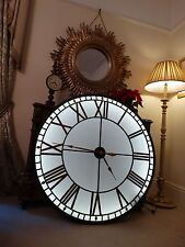 HUGE!!120cm Industrial backlit wall clock, westminster dial illuminated Big Ben.