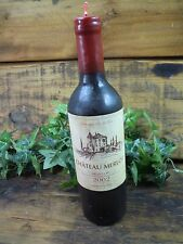 Full Bottle Of Red Wine Size Candle New 2002 novelty candle