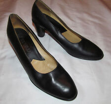 PREVATA career classic leather pumps shoes 8 B ITALY   **