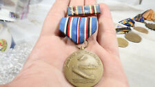 WWII US Army American Campaign Medal and Ribbon Bar