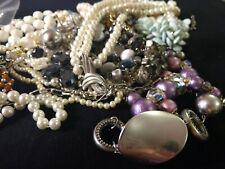 Huge Jewelry Lot 1.61 Pound Lbs Craft, Art, Broken Lot for repurpose. Beads!