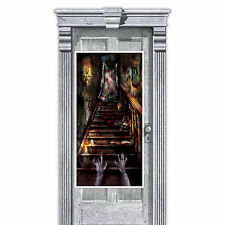 "65"" Halloween Haunted House Mansion Scare Stairs Party Door Banner Decoration"
