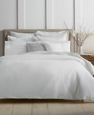 Charter Club Damask Designs Diamond Dot Cotton FULL / QUEEN Duvet & Shams White