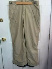 "Columbia Men's Convert Insulated Ski Snowboard Pants Beige Size Large 38"" x 33"""