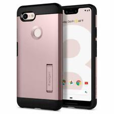 Google Pixel 3 XL Case, Spigen Tough Armor Protective Cover - Rose Gold