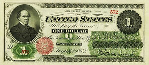 PREPRODUCTION  1862 $1 dollar US note currency