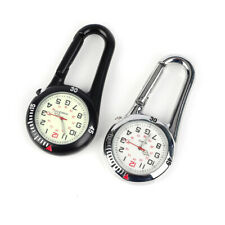 Clip on Carabiner Luminous Face FOB Digital Watch for Doctors Nurses Paramedics