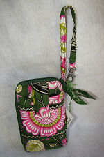 New Vera Bradley Cary It All Wristlet Multi Colorful Green Pink Floral Print
