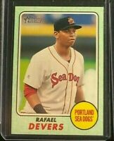 2017 TOPPS HERITAGE MINORS RAFAEL DEVERS RC SERIAL # 9/50 MINT