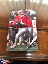 1987 Boston University Football Pocket Schedule Team Issue