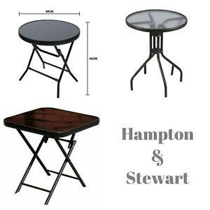 Black 60cm Bistro Sets Table Patio Garden Outdoor Furniture Diner Home