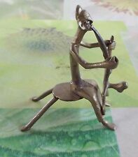 1 Ancien Personnage Statue Guerre Chasse Africains Mythologie Guerriers Bronze