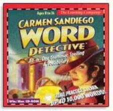 Carmen Sandiego Word Detective PC MAC CD kid electronic spelling dictionary game