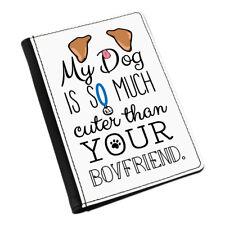 MY DOG ES corte Than Your NOVIO Marrón Orejas Funda de pasaporte Funda Cartera