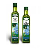 LINSEED OIL FLAXSEED OIL OLEJ LNIANY COLD PRESSED UNREFINED RAW 250ML/500ML
