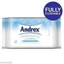 Andrex Washlets Flushable Toilet Tissue wipes Cotton Fresh 3 x 42 multi pack