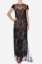 Carla Zampatti Designer Caviar Lace Gown Evening Dress Prom