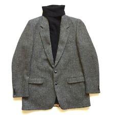 Beautiful Harris Tweed Scottish Wool Plaid Mens Blazer Jacket Size 46