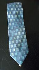 Krawatte, ALPI, 100% Seide, 3-farbig gemustert, blau-grün-gelb, 143cm