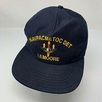Lemoore California Vintage Ball Cap Navy Pacific Meteorology Oceanography Hat