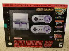 Super Nintendo SNES Classic Edition Super NES Mini System 21 Games New in Box