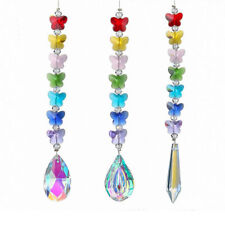 3PCS Crystal Prism Rainbow Maker Chakra Beads Hanging Suncatcher Window Decor