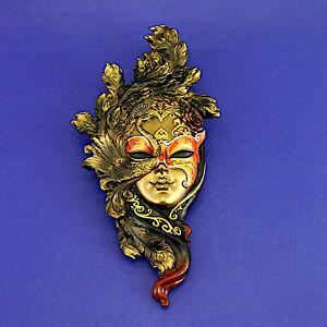Cold Cast Bronze Venetian Wall Mask by Genesis Fine Arts (2008) 34.25cm High