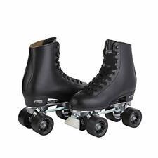 CHICAGO SKATES Leather Lined Rink Roller Skate Classic Black Quad Skates, Size 5