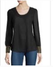 New With Tag Romeo And Juliet Couture Chiffon Black Top. Medium Size $174 Retail