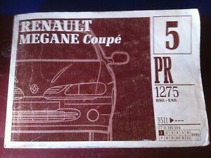 Catalogue pièces Renault Mégane coupé