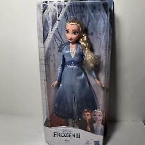Disney Frozen 2 Elsa Doll With Long Blonde Hair and Blue Outfit FREE SHIPPING