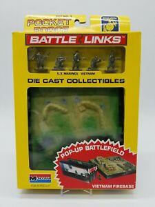 Monogram 8176 Set #1 Pocket Force Battle Links Die Cast Vietnam Firebase Pop-Up