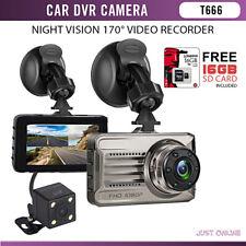 "3"" Dual Lens Car DVR Video Recorder Dash Cam Camcorder Front & Rear Camera"