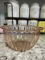 """Jeannette Glass Pink Jennyware 8 1/4"""" Mixing Bowl Depression Glass"""