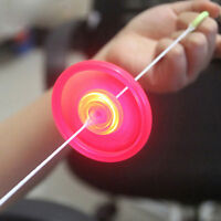 Colorful Plastic Spin LED Light Flying Saucer  Kids Outdoor  Toys cc