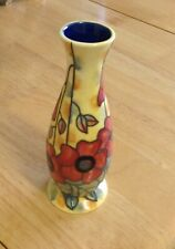Old Tupton  Ware 6 & 1/4 Inch Vase Yellow Poppy Design.