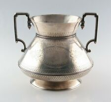 Antique Sterling Silver Art Deco Trophy Cup by Frederick Elkington & Co. C. 1874