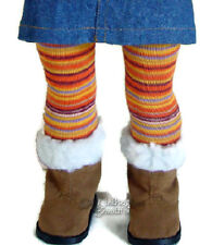 """Orange Striped Winter Tights for 18"""" American Girl Doll Clothes Halloween"""