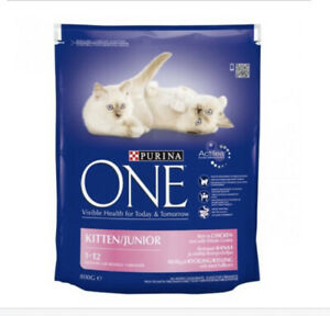 Purina ONE Kitten Chicken and Whole Grains Dry Cat Food 800g - BB 09/21
