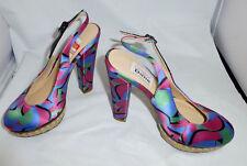 Olivia Rubin for Dune~Multi-Color Print~High Heel Women's Shoes~Sz 6.5 (US)~37EU