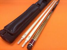 LONGONI CAROM CUE GINEVRA WITH 2 SHAFTS & CASE.
