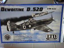 DEWOITINE D 520 1/48 SCALE LTD MODEL+ PHOTOETCHED PARTS EDUARD ACCESSORIES