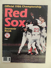 Boston Red Sox Official 1986 Championship Souvenir Book