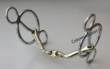 "CS Tongue Saver Cartwheel 3 Ring Gag Pessoa Bit  150mm  5.9"""
