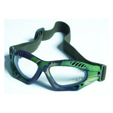 Commando AIR PRO Goggles - WOODLAND CAMOUFLAGE CLEAR Airsoft Paintball Army