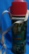 Old Vintage Tin Bollywood Movies Theme Eagle Flask Thermos from India 1980