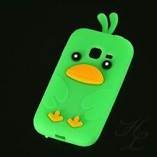 Samsung Galaxy Ace Duos S6802 Silikon Case Schutz Hülle Etui Chicken Grün Cover