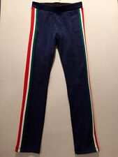 Kids Girls H&M Leggings Blue Lurex Sparkle Stripe Red Green White Age 8-9